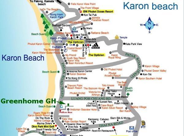 Green Home Guesthouse à Karon sur l'ile de Phuket en Thailande – Réservation chambre hotel